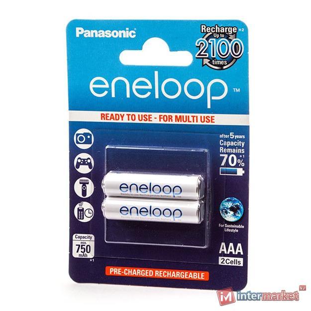 Аккумулятор PANASONIC Eneloop AAA 750 mAh/2B /
