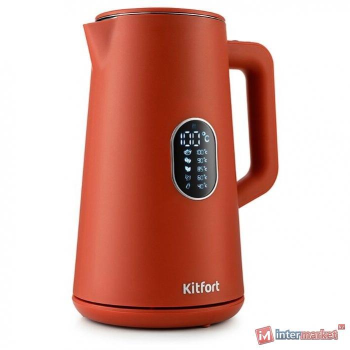 Электрический чайник Kitfort KT-6115-3 красный