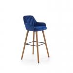 Барный стул Halmar H93, синий/орех