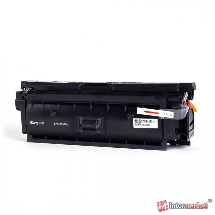 Картридж, Europrint, EPC-CF360A, Чёрный, Для принтеров HP Color LaserJet Enterprise M552dn/M553dn/M553n/M553x, 6000 страниц.