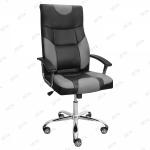 Кресло для офиса Радмир эко-кожа черный, серый