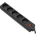 Сетевой фильтр Defender ES 3 метра, 5 розеток, черный