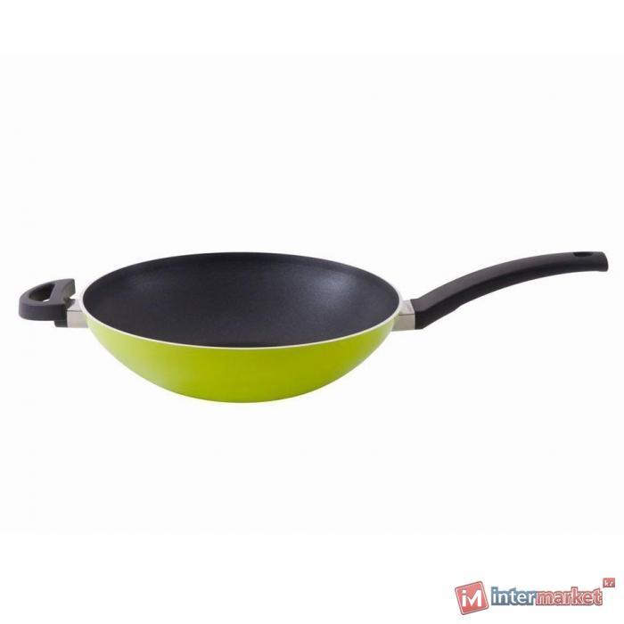 Сковорода Вок Berghoff Eclipse Lime 3700088, 28см 3,2л